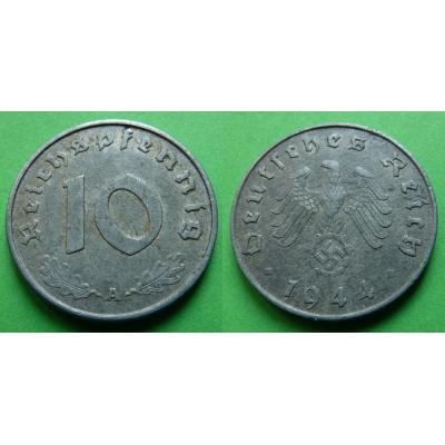 Nacistické Německo - 10 pfennig 1944 A