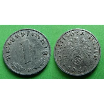 Nacistické Německo - 1 pfennig 1944 B