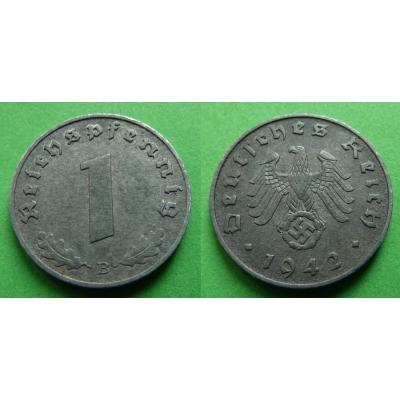 Nacistické Německo - 1 pfennig 1942 B
