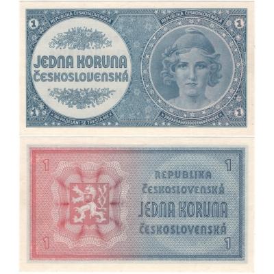 Czechoslovakia - banknote 1 crowns in 1946 UNC