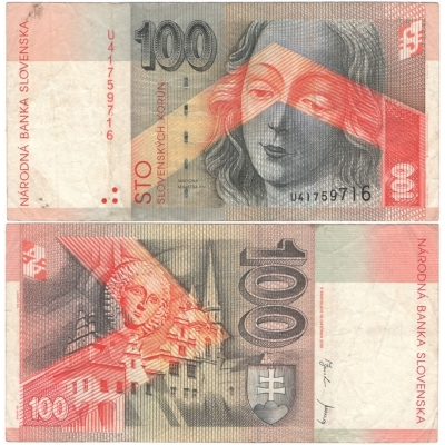 Slovensko - bankovka 100 korun 2001