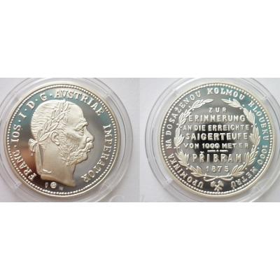 Příbramský zlatník 1875 - stříbrná novoražba PROOF