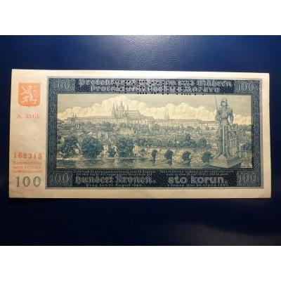Protektorát Čechy a Morava - bankovka 100 korun 1940