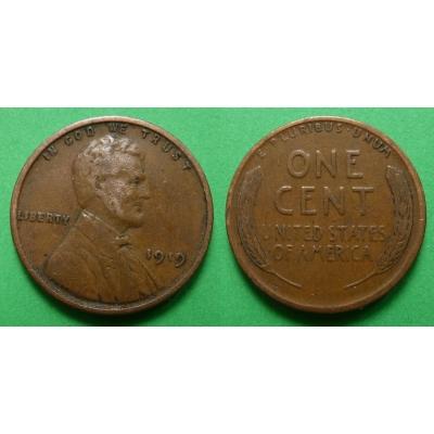 Spojené státy americké - 1 cent 1919