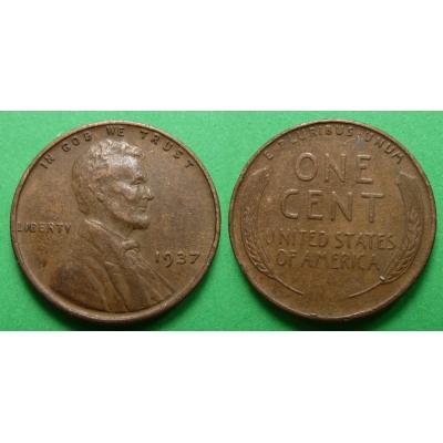 Spojené státy americké - 1 cent 1937