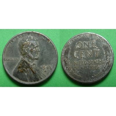 Spojené státy americké - 1 cent 1943 S