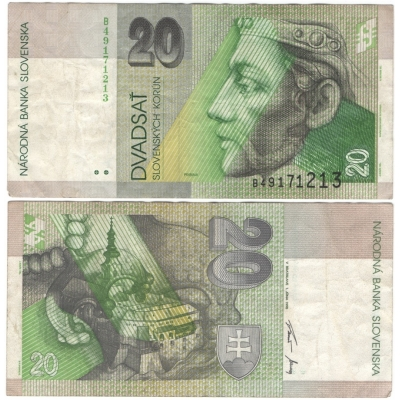 Slovensko - bankovka 20 korun 1995