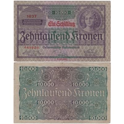Rakousko - bankovka 10 000 korun 1924