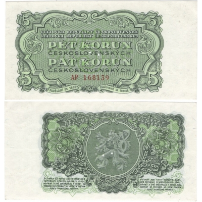 5 korun 1953 UNC, série AP, 3MD
