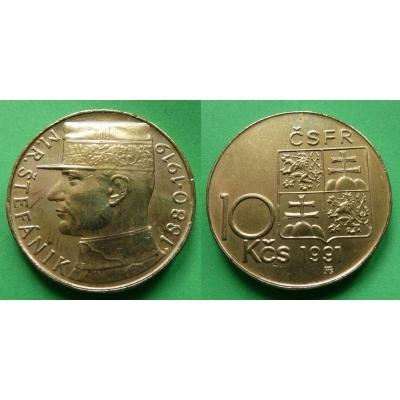 10 korun 1991 - M.R. Štefánik
