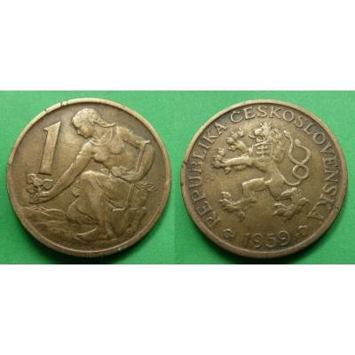 1 koruna 1959