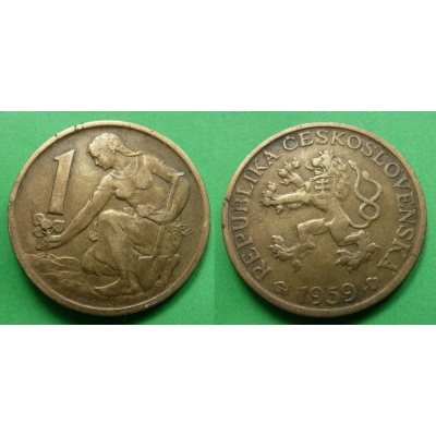 Czechoslovakia - Coin 1 Crown 1959