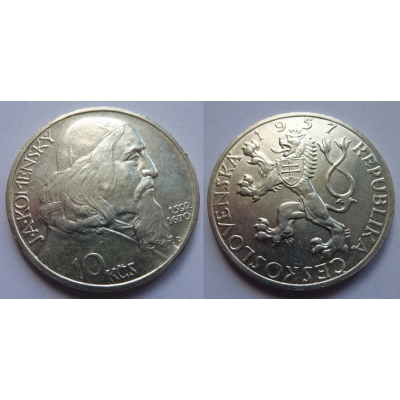 10 korun 1957 - Jan Ámos Komenský
