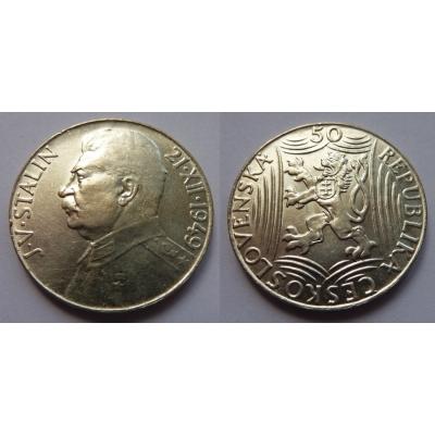 50 korun 1949 - 70. výročí narození Josefa Visarijnoviče Stalina