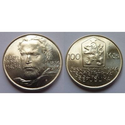100 korun 1986 - Karel Hynek Mácha