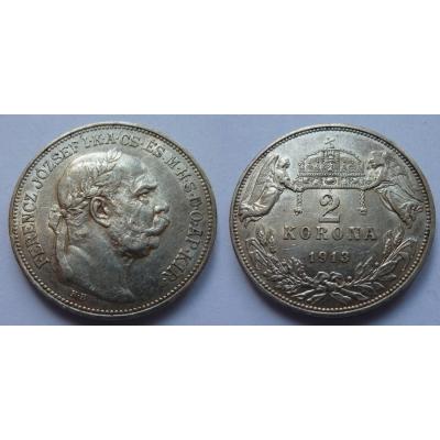 2 koruny 1913 K.B.