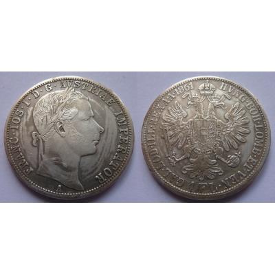 František Josef I. - 1 zlatník 1861 A