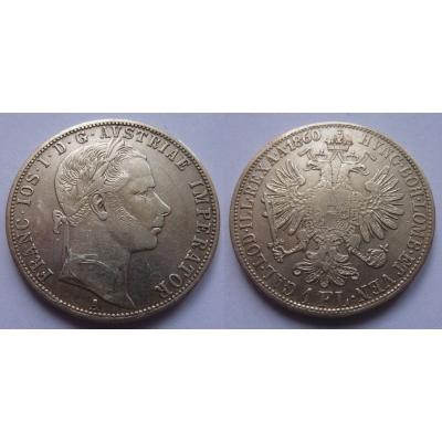 František Josef I. - 1 zlatník 1860 A