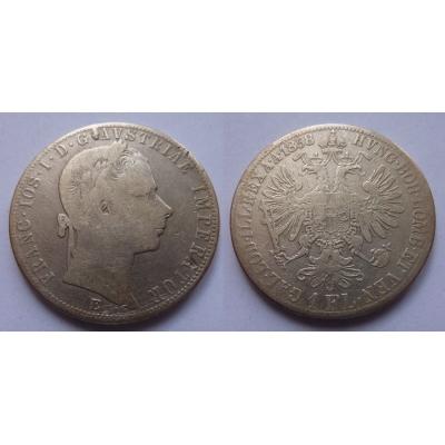 František Josef I. - 1 zlatník 1858 E vzácný