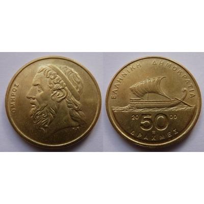 Řecko - 50 drachma 2000
