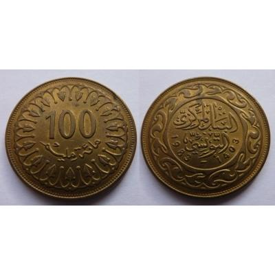 Tunisko - 100 Mallīm 1983