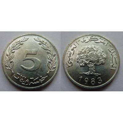 Tunisko - 5 Millim 1983