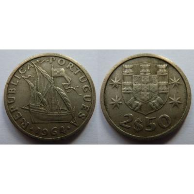 Portugalsko - 2,5 Escudos 1964