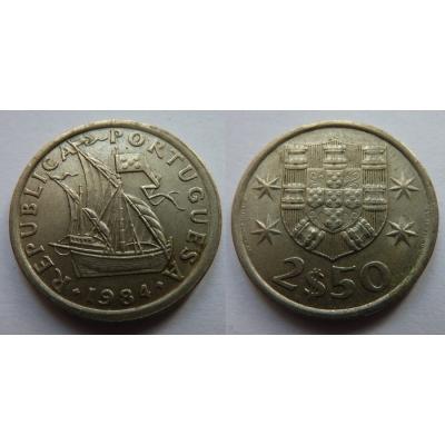 Portugalsko - 2,5 Escudos 1984