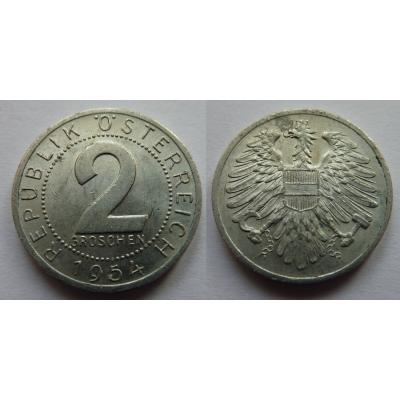 Rakousko - 2 groschen 1954