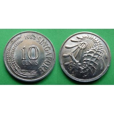 Singapur - 10 cents 1982