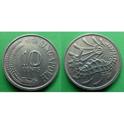 Singapur - 10 cents 1976