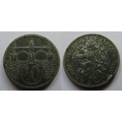 Protektorát Čechy a Morava - 10 haléřů 1941