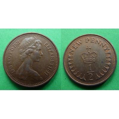 Velká Británie - 1/2 penny 1971