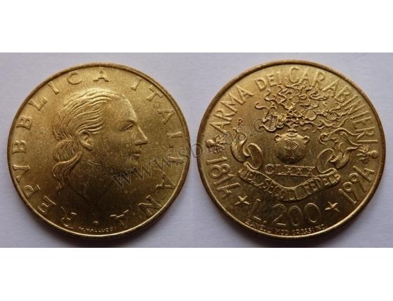 Itálie - 200 lire 1994