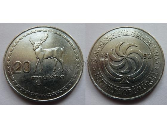 Gruzie - 20 Tetri 1993