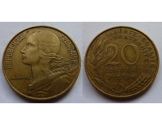 Francie - 20 centimes 1967