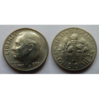 Spojené státy americké - 1 dime 1967