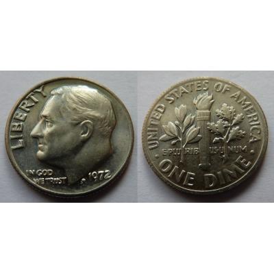 Spojené státy americké - 1 dime 1972