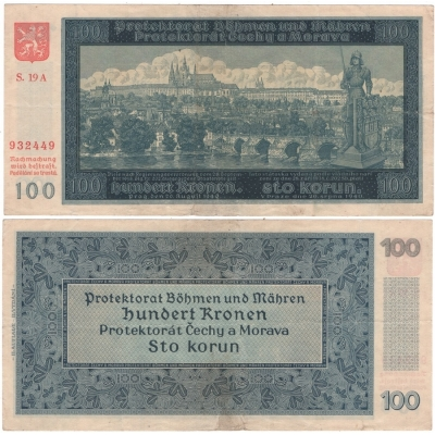 100 korun 1940, neperforovaná