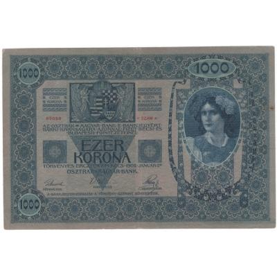 1000 korun 1902, bez přetisku