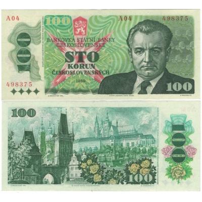100 korun 1989 série A04, UNC