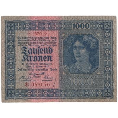Rakousko - bankovka 1000 korun 1922