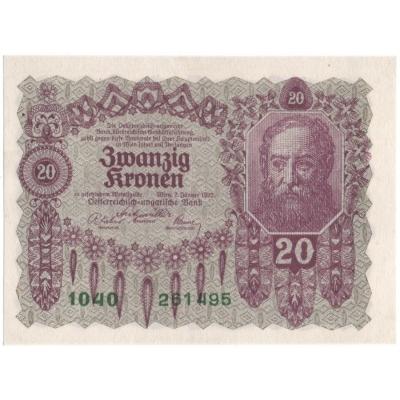 Rakousko - bankovka 20 korun 1922