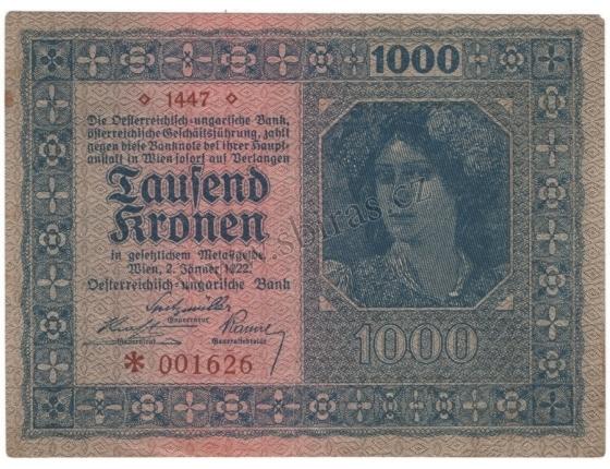 Austria - 1,000 crowns 1922