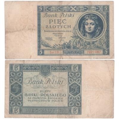 Polsko - bankovka 5 zlotych 1930