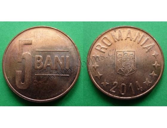 Rumunsko - 5 bani 1914
