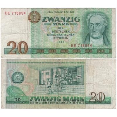 Východní Německo - bankovka 20 marek 1975