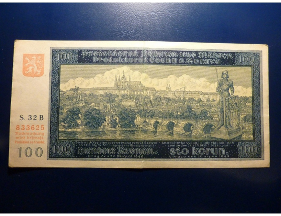 100 korun 1940 S.32B