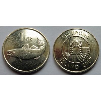 Island - 1 krónur 2007