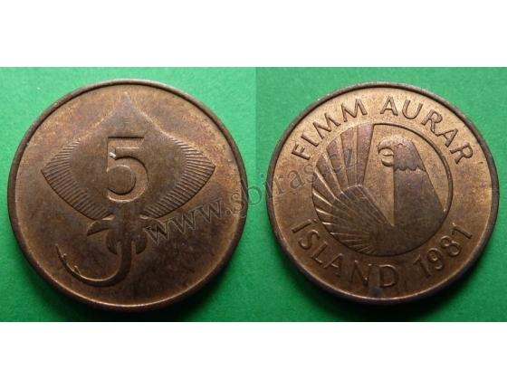 Island - 5 aurar 1981